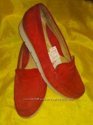 Стильные замшевые туфли-лоферы Gabor р 40 26 см Германия