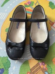 Кожаные туфли ортопедические темно-синие, Azra, Р 34 , 22-22, 2 см