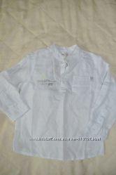 Рубашка льняная, белая, французской марки Orhestra