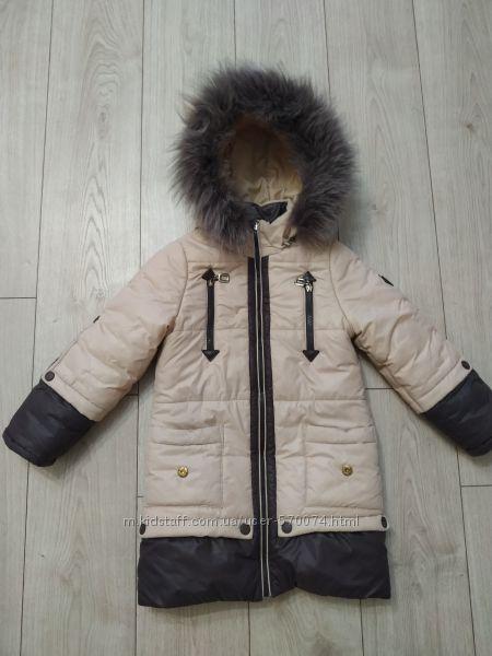 Зимнее пальто девочке