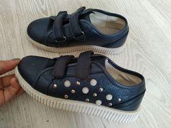 Туфли кеды с бусинами