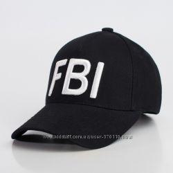 Стильные бейсболки с вышивкой FBI