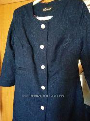 Пиджак синий, рукав 34, размер 46