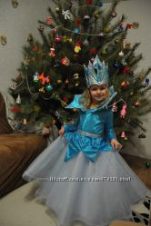 Прокат платье Снежной Королевы или капелька или дождик