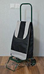 Усиленная хозяйственная сумка - тележка на металичесских колесах