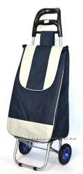 Хозяйственная сумка - тележка с железными колесами на подшипниках