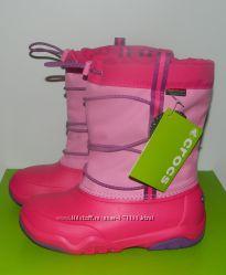 В наличии Зимние сапоги Crocs для девочки размер J3