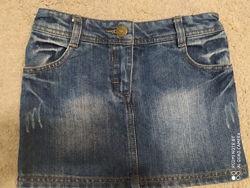 Юбка юбочка джинсовая F&F 6-7 лет 116-122 рост