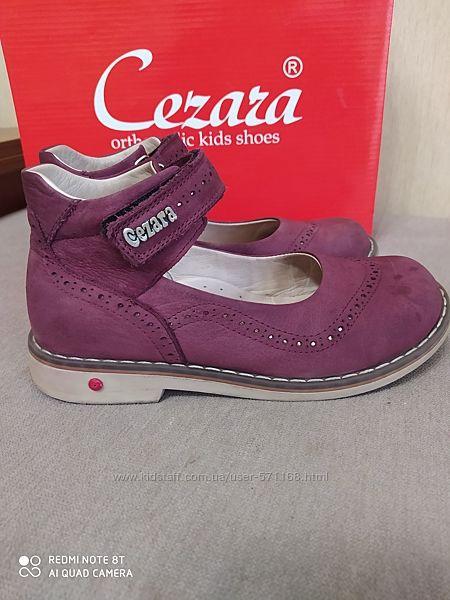 Ортопедические туфли кожа cezara rosso 30 размер.