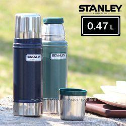 Термос Stanley Classic Vacuum Bottle 0, 47L Blue - ударопрочный термос