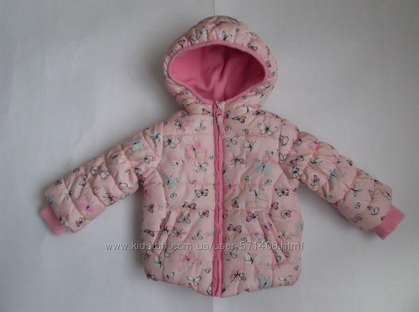 Курточка теплая для девочки 6-9 месяцев Mothercare