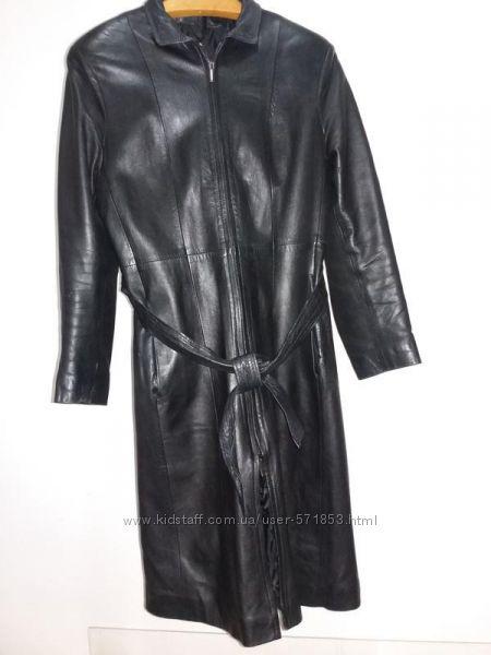 Кожаное пальто. Италия, М 38, 40 см. замеры