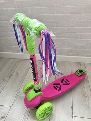 Красочные ленточки на самокат  велосипед