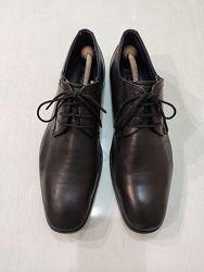 Bugatti мужские чёрные кожаные туфли 42 размер