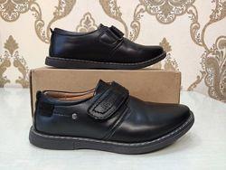 Jong golf черные туфли на липучках, 30 размер