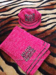 Комплект кепка и шарф на девочку