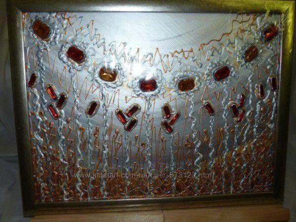 Картина, акрил  декор матерьял , Art Decor 45 x 35 cм  Фэнтези