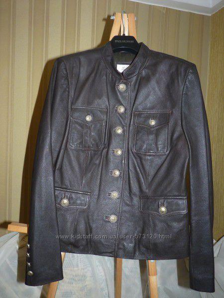 Куртка, натуральная  кожа, Италия , Alba Moda