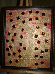 Картина, акрил , декор матерьял  стразы, Art Decor  55 x  45 cm