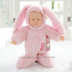Мягкая кукла - младенец Зайка, Мишка.