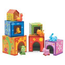 Djeco кубики с фигурками животных