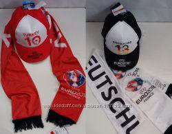 Комплект шарф кепка бейсболка UEFA C&A Германия оригинал Европа