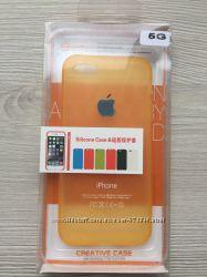 Cиликоновый золотой чехол Creative для iPhone 55S5SE