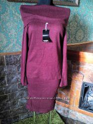 Новый костюм юбка и кофта цвет марсала