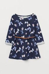 Новые платья H&M на девочек 1,5-10 лет