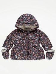 Новые зимние куртки GEORGE на девочек от 9 до 24 месяцев
