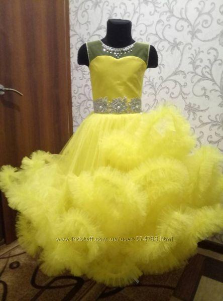 Платье облако для девочки выпускное