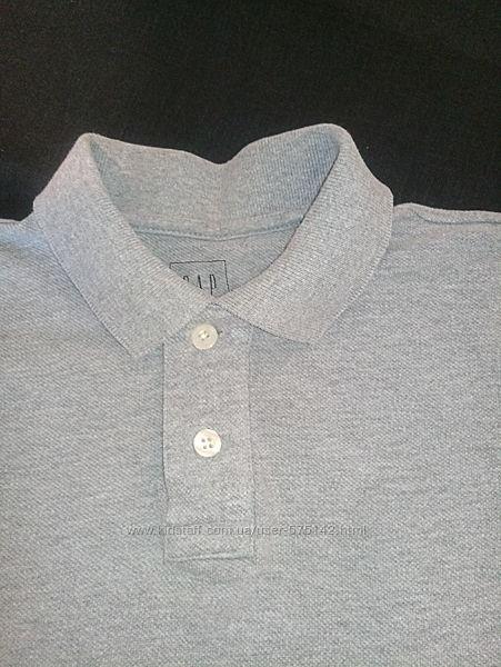 Фирменная футболка поло серого цвета GAP 6/7 S