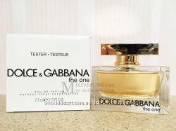 Оригинал Dolce Gabbana The One edp 75 ml w TESTER Парфюмированная Женская