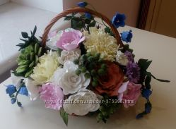 Цветы, заколки, обручи, цветочные композиции из фоамирана, шифона, атласа