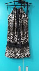 Блуза туника в красивый леопардовый принт. Размер М