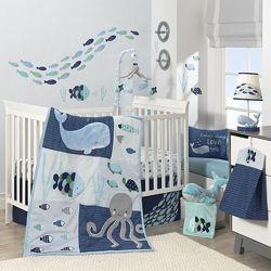 Детский постельный комплект в кроватку Lambs & Ivy США, 4 единицы