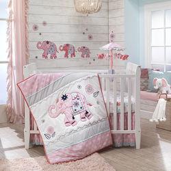 Детский постельный комплект в кроватку Lambs & Ivy США, 5 единиц