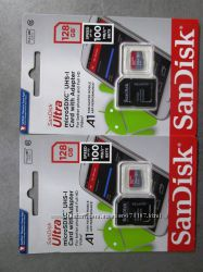 СД карта Sandisk Ultra 128, 200GB UHS-I А1. Новые. 10 лет гарантии