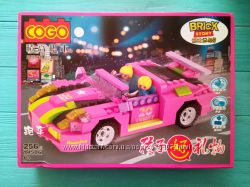 COGO Игрушка конструктор Розовый родстер 256 деталей - серия Dream Girls