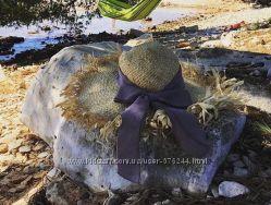 Большая пляжная шляпа из натуральной соломы