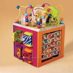 Развивающая деревянная игрушка - Зоо куб  размер 34х30х45 см