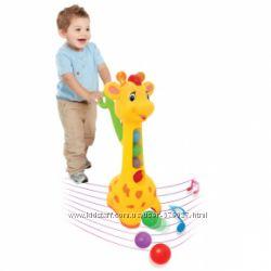 Игрушка-каталка - Аккуратный жираф свет, звук Kiddieland