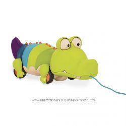 Игрушка-каталка на веревочке - Крокодил клац клаус Battat