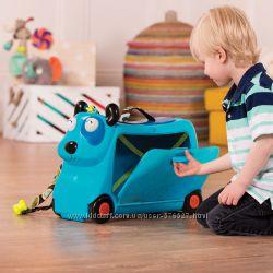 Детский чемодан-каталка для путешествий - Песик турист Battat