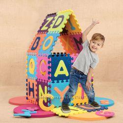 Детский развивающий коврик-пазл - ABC Battat