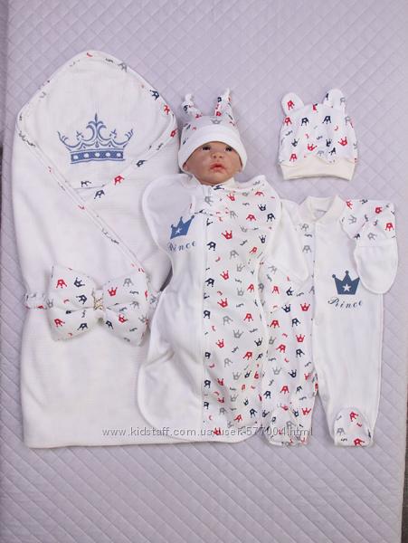 Трикотажные комплекты доя новорожденных