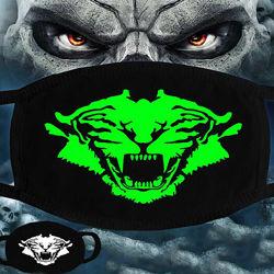 Зимняя защитная маска на лицо со светящимся принтом