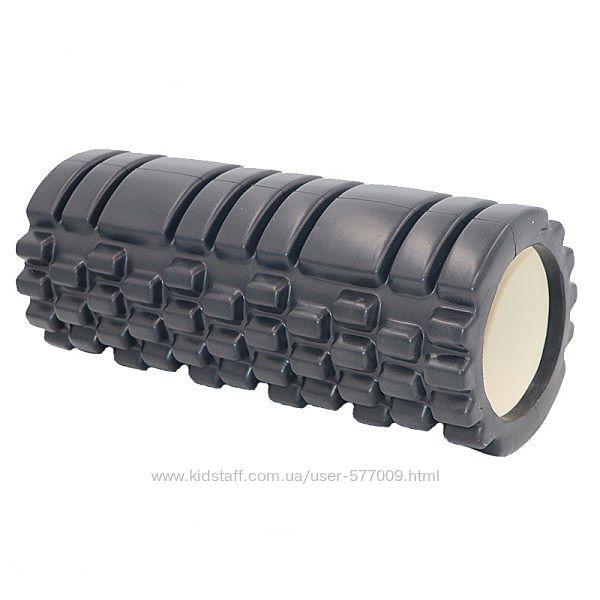 Валик массажный foam roller для фитнеса йоги пилатеса медитации 33 см