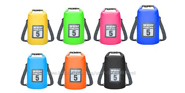 Водонепроницаемый гермомешок рюкзак 5 литров для вещей