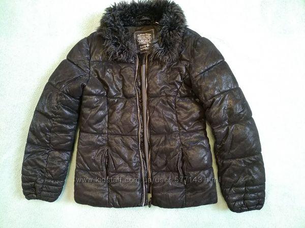 Черная зимняя куртка для девочки